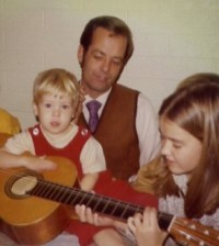 Victor W. Jorgensen, Jr. sharing his love of music with son, Erik Jorgensen, and daughter, Cheri Jorgensen Meiners.