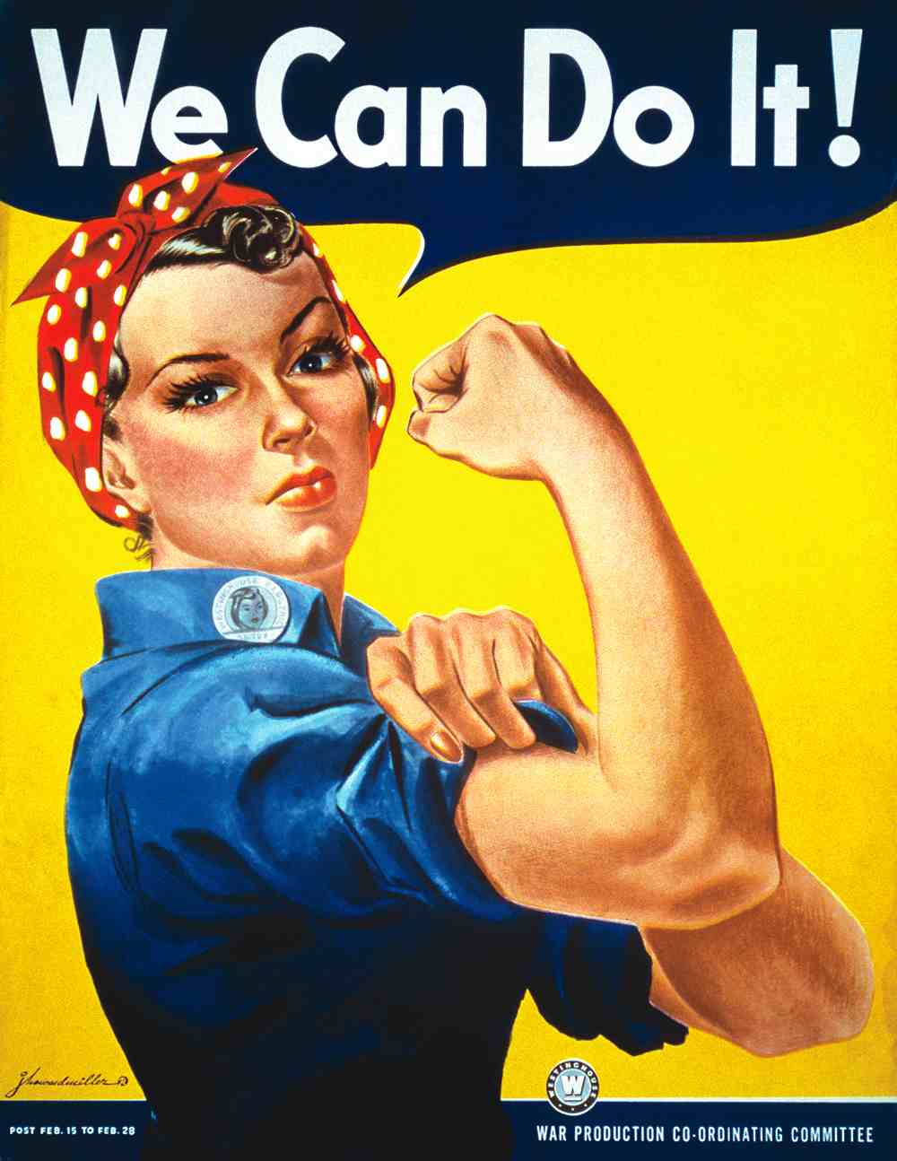 This poster by J. Howard Miller has been serving as a cultural icon of feminism since 1942.