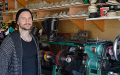 The Shoe Surgeon: A man with a sewing machine and a dream
