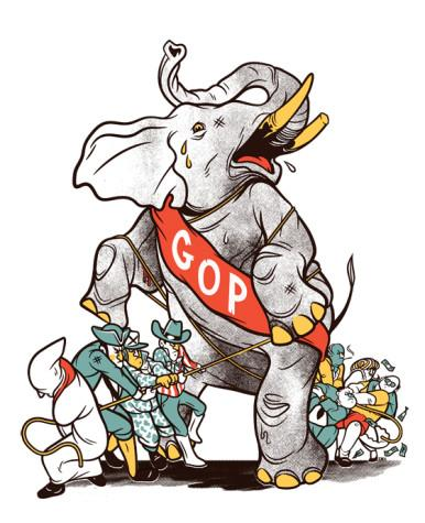 Elephant wars: Dissenting ranks threaten to dismantle the GOP in the 2016 presidential election