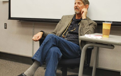 E.T. actor Peter Coyote speaks to SRJC humanities students