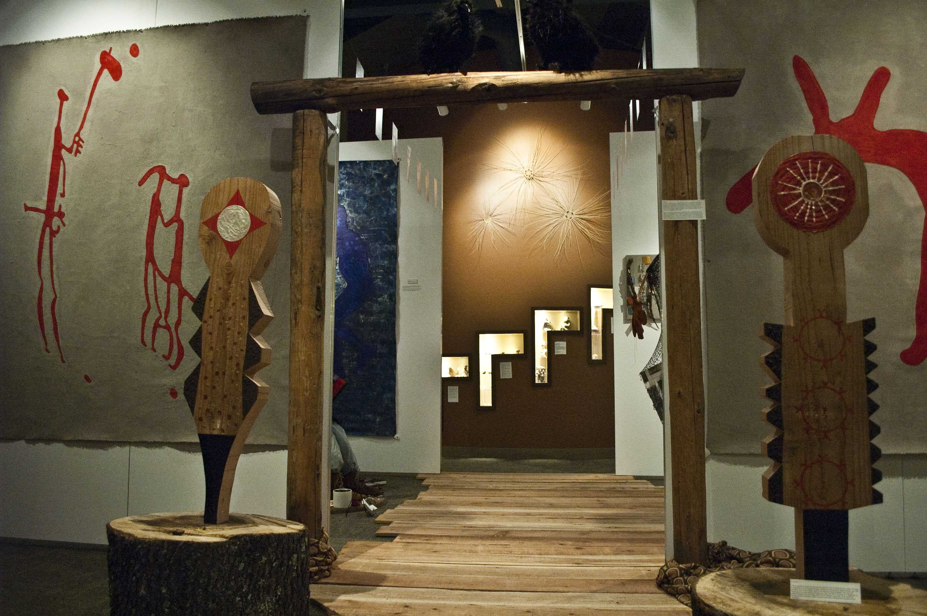 The Scandanavian Rock Art exibit displays art from two different regions in Sweden dating back from 1,500-5,000 B.C. and 3,500-2,500 B.C. The exibit is free to students.