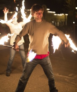 Students Play with Fire: Flammable, Friendly Freewheeling Fun
