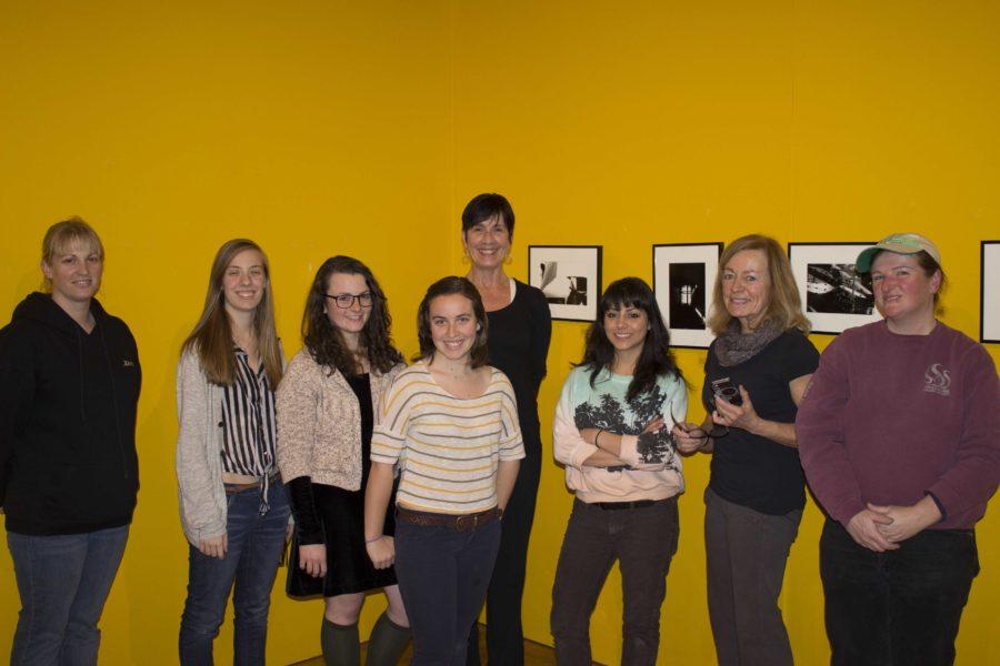Pictured from left to right, photography students Rose Antaki, Miranda Walli, Robin Enfield, Suzi Torres, Janine Barthol, Donna Gaetano, Professor Renata Breth and Bea Pooke.