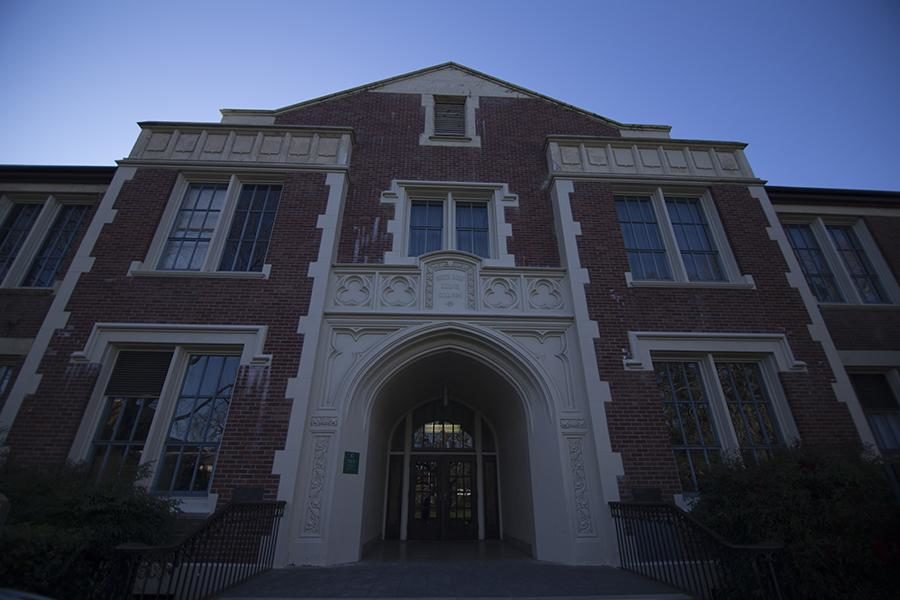 Analy Hall, where a female student initially reported a sexual assault.
