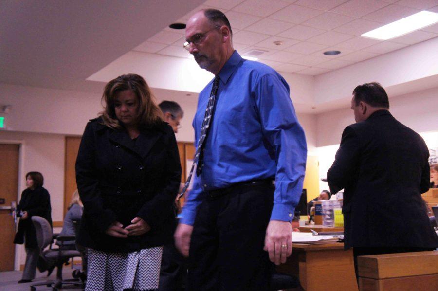 Holzworth leaving court arraignment Feb. 20. 2013.
