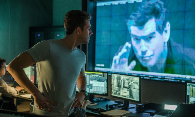 David Mason (Bracey) looks on as Peter Devereaux (Brosnan) taunts him in the newly released The November Man.