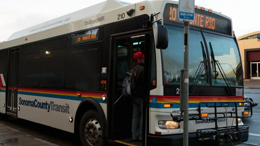 The use of public transit systems by college students is growing, according to the Transportation Research Board of the National Academics. Sonoma County Transit is free to ride for students and veterans.