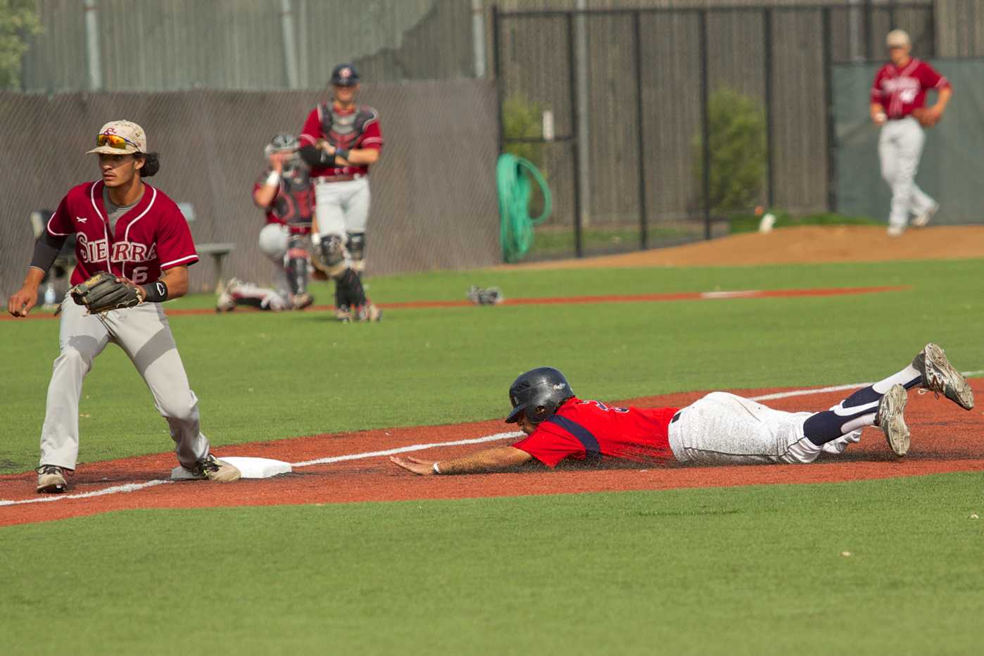 Jake Scheiner steals third base on a passed ball against Sierra College April 24 at Sypher Field. The Bear Cubs swept with a 26-10 overall record and a 15-6 conference record.