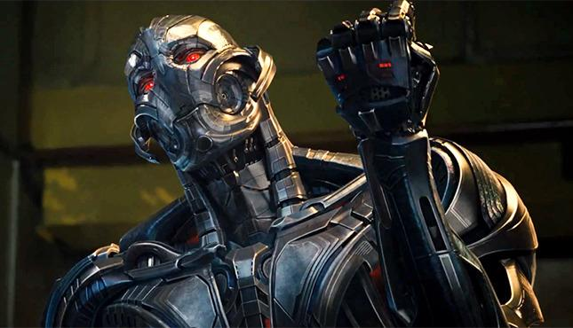 Ultron, voiced by James Spader, plots the downfall of the Avengers after Tony Stark builds him and the robot goes berserk.