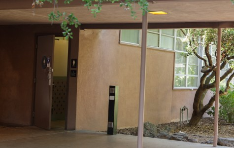 Women's restroom at Barnett Hall on the SRJC campus. The restroom was the site of an alleged sexual assault Aug. 20.