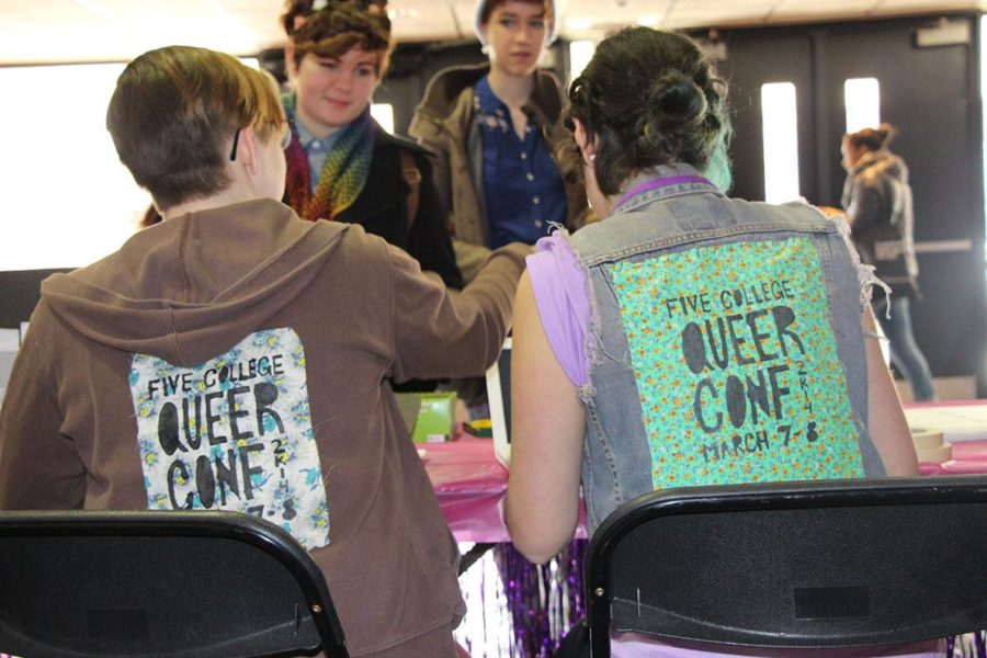Attendees register for the 2014 Five-College Queer Conference. Hampshire College in Massachusetts hosts the student-led annual event, which offers a supportive place to explore gender and sexuality, as well as other intersecting issues. For more information about the conference, visit www.hampshire.edu/queerconf.