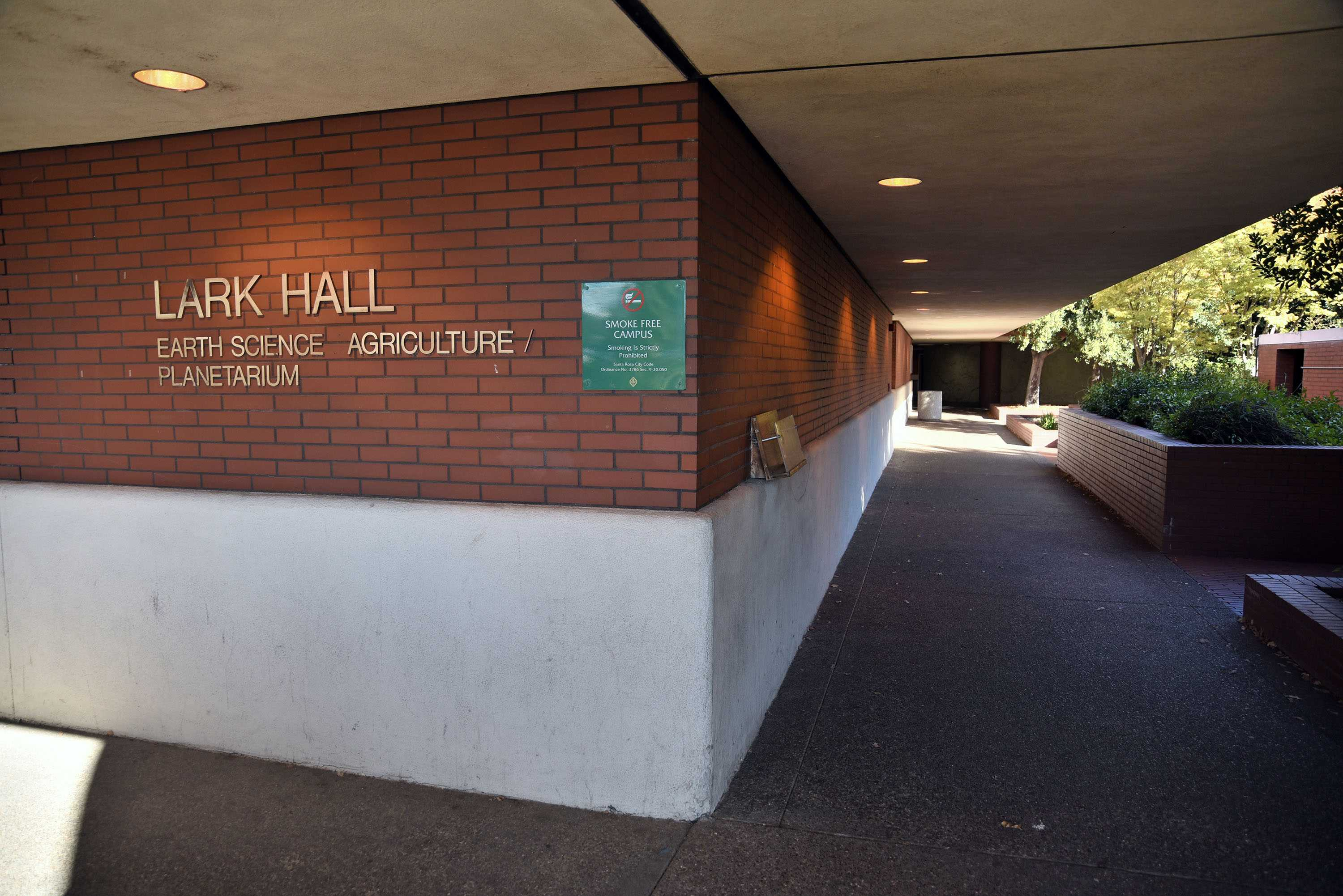 Lark Hall, the site where the suspect exposed his penis to a female student.