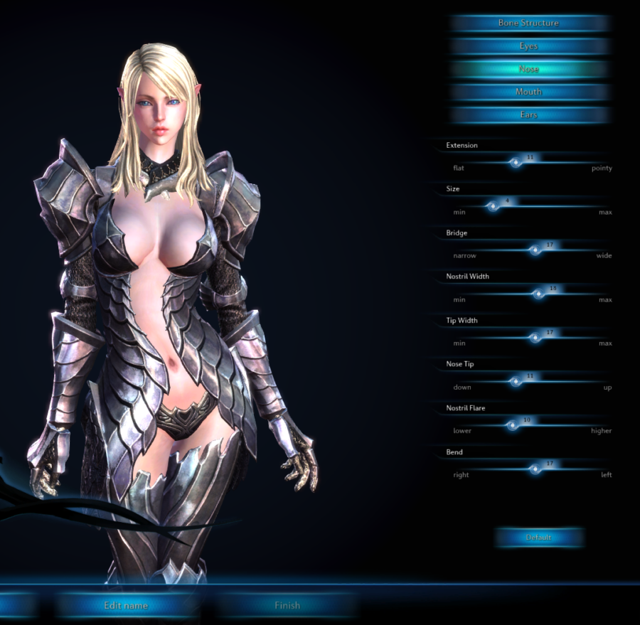 """In the MMORPG """"Tera"""" there is no practical armor for female characters."""