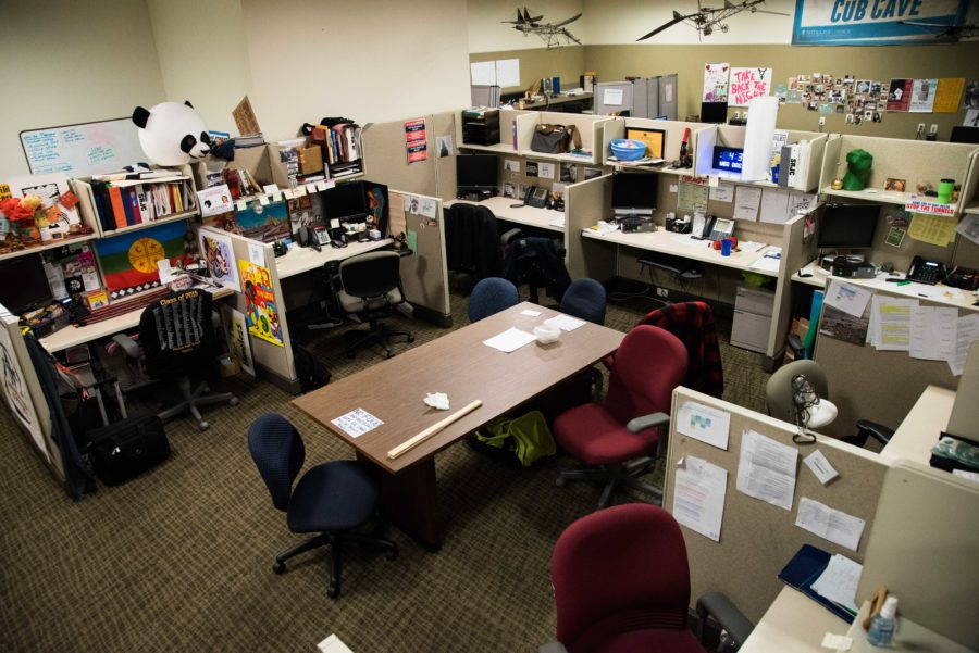 The SGA commons, where the student legislators work.