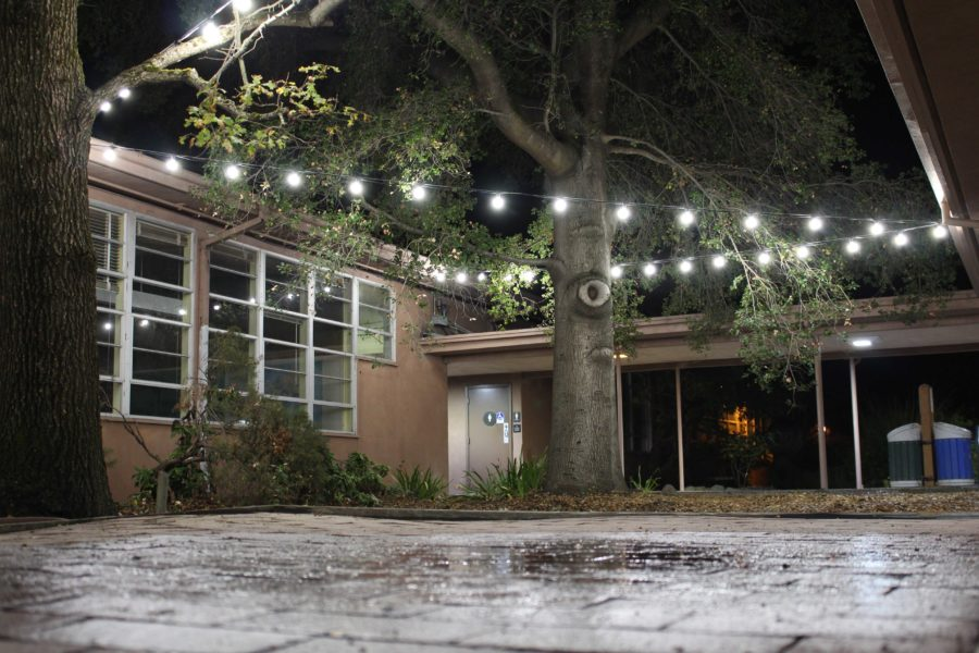 New lights illuminate the Barnett Hall area where a rape occurred in the bathroom in August.