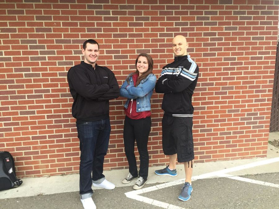 The ad team, Gage Stephens, Sarah Clark and Joe Gray, revel in their success.