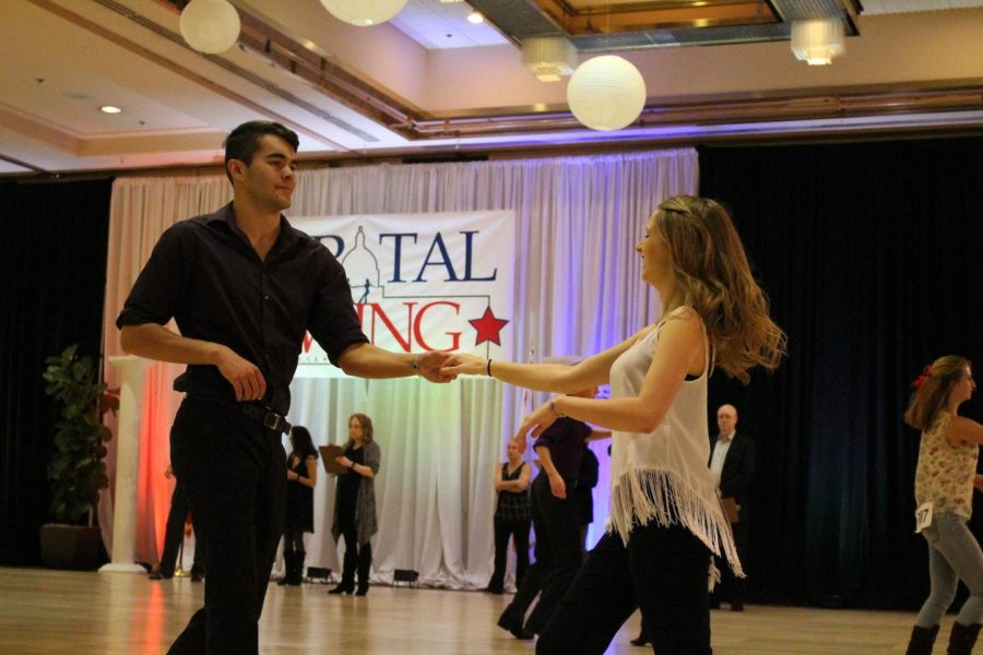 Grant Howell and Taylor Brandt compete at the West Coast 101 Competition in Sacramento, California.