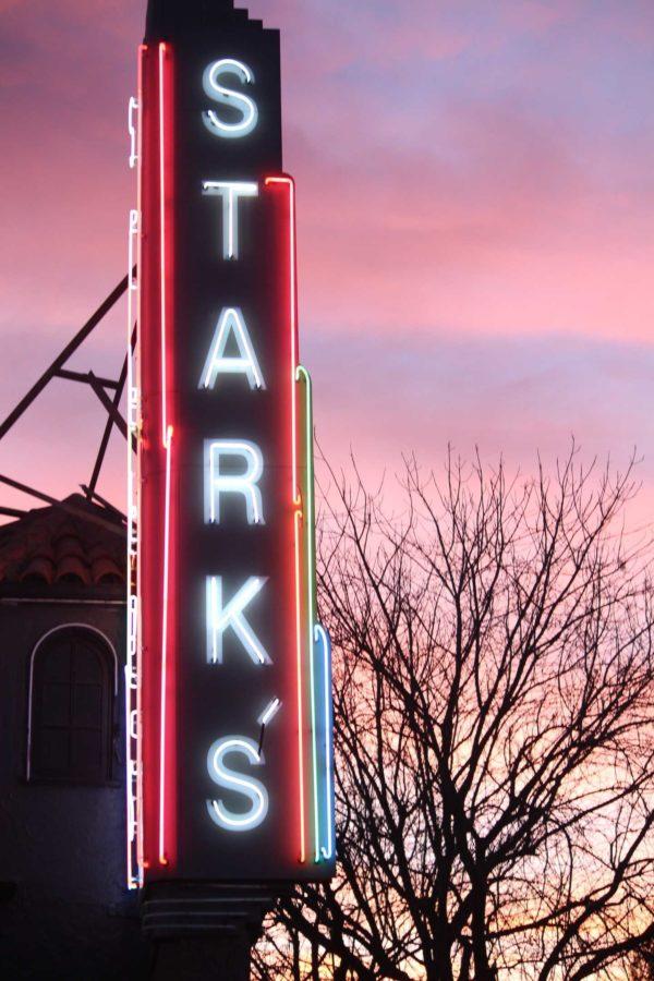 Starks sign at sunset