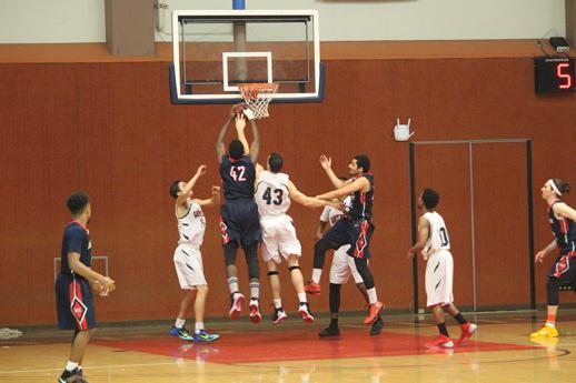 Bear Cubs' center Arnold Silva fights for a rebound in a game against American River College Jan. 29 at SRJC's Haehl Pavillion