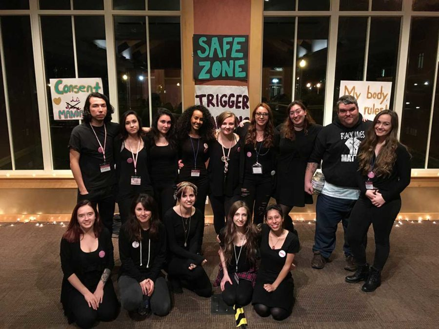 Feminists United and PEERS members foster a safe environment for Take Back the Night II.