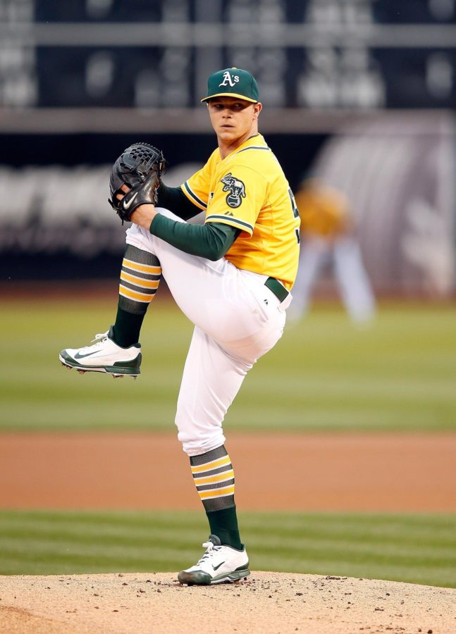 Oakland Athletics' pitcher Sonny Gray finished third in the American League Cy Young Award voting in 2015. Gray's career stats include a 2.88 ERA and 419 strikeouts.