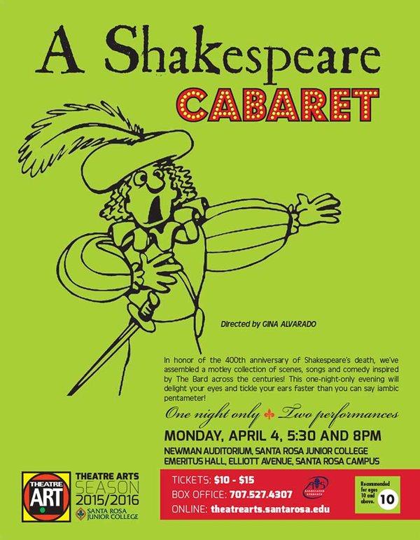 Shakespeare Cabaret at SRJC