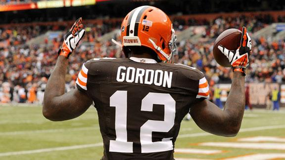 Cleveland Browns' wide receiver Josh Gordon had a career year in 2013 with 87 receptions for 1,646 yards and nine touchdowns in 14 games. He has only played in five games since then due to multiple substance abuse violations. The NFL denied Gordon's request for reinstatement.