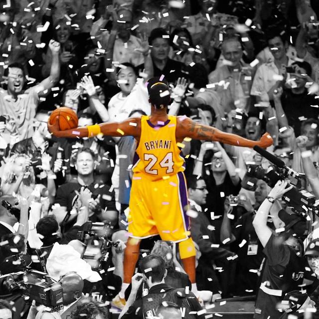 Kobe+Bryant+celebrates+after+capturing+his+fifth+and+final+championship+ring+with+the+Los+Angeles+Lakers+at+Staples+Center.+Bryant%2C+the+2010+Finals+MVP%2C+averaged+28.6+points%2C+8+rebounds%2C+3.9+assists+and+2.1+steals+in+the+seven-game+series.+He+had+23+points+and+15+rebounds+in+game+seven.