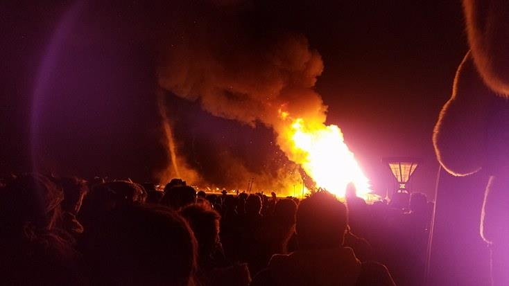 The emotionally charged temple burn was felt throughout the crowd as they all gazed at the flames and felt the transcendence of their prayers. The temple is a sacred place for all to come to peace with hardships they are trying to let go of such as passed loved ones and old habits.