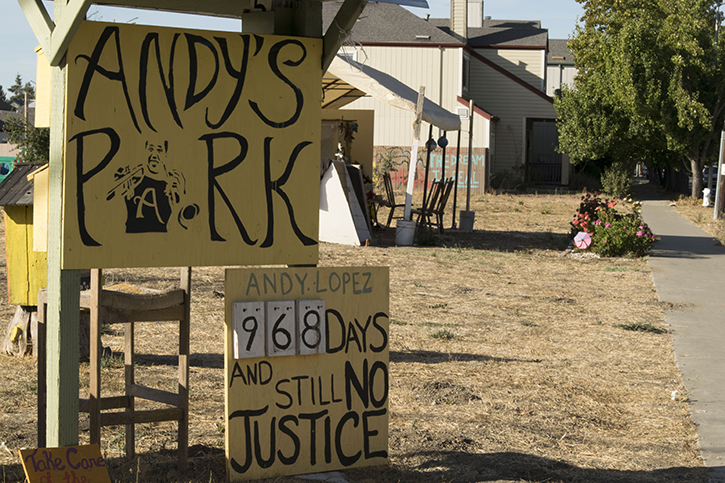 The site of Andy Lopez's death in 2013 will become a new park with a $1.2 million grant from the Sonoma County Board of Supervisors. The park will feature a community garden, a skate park, dog park and a basketball court.