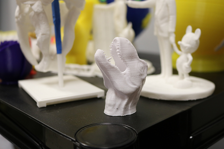 Today's 3D printers are capable of producing complex shapes that are both stylized and functional, such as simple machines.