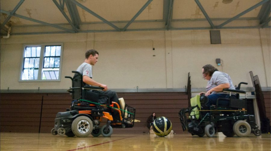 The+SRJC+Rolling+Bears+is+the+only+club+of+its+kind+at+a+California+college.+Power+soccer+is+one+of+the+only+sports+designed+for+people+who+use+a+power+wheelchair.