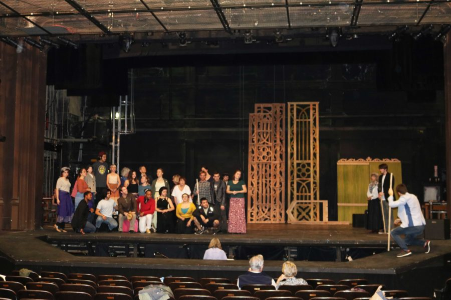 Cast members rehearse in Burbank Hall in advance of the show's Nov. 25 opener.