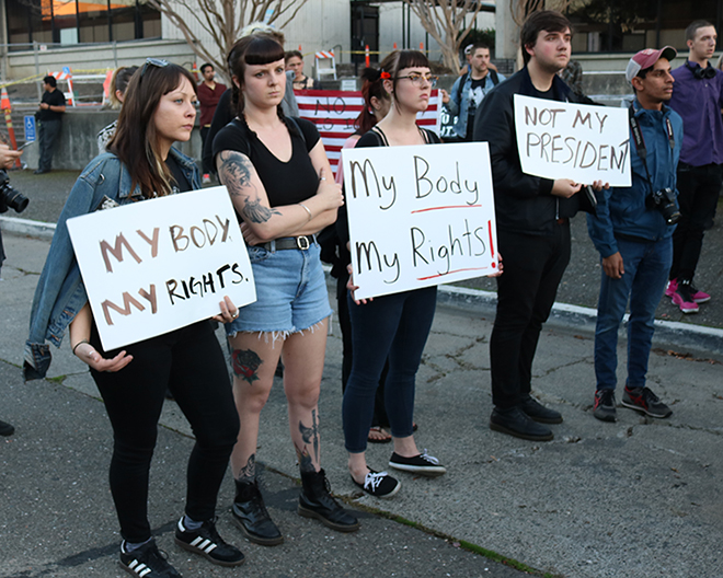 Protesters show concern over reproductive rights