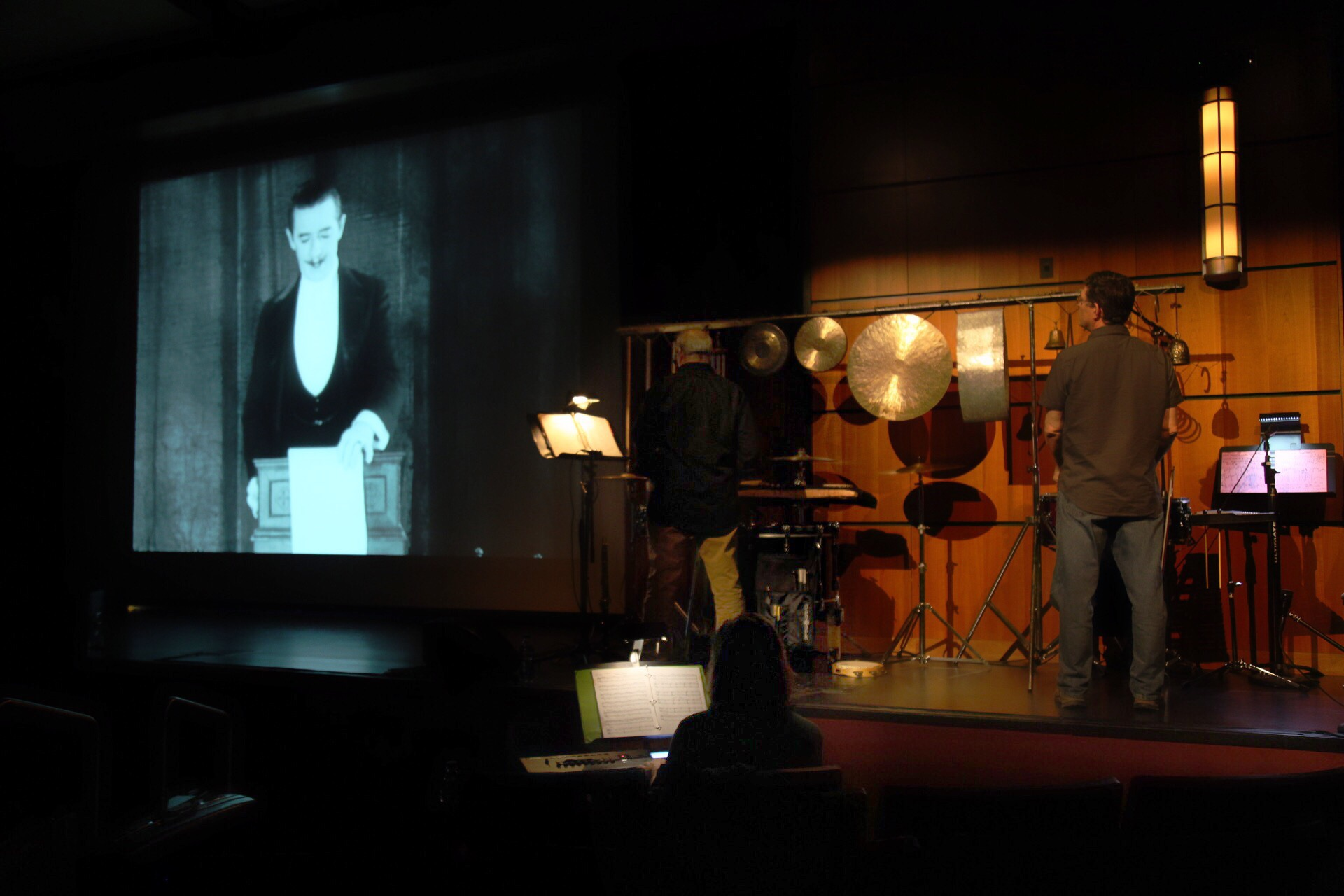 The Alloy Orchestra uses improvised materials such as saws and sheet metal to create soundscapes for silent films.