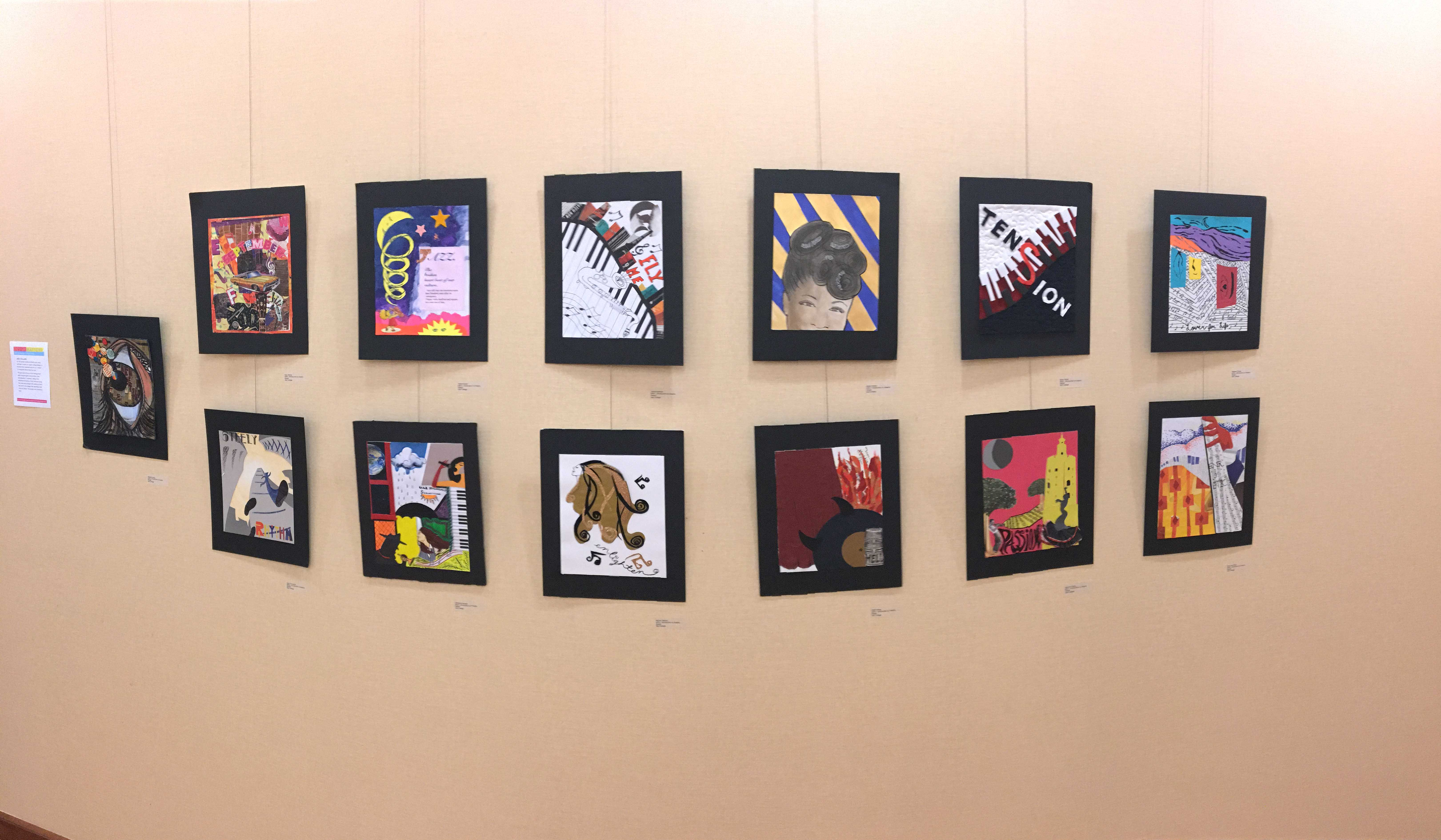 The art show displayed a variety of work across a number of graphic design categories.