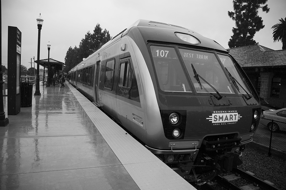 The public explored the new SMART trains at the Nov. 18 open house. The train offers commuters eco friendly transportation.