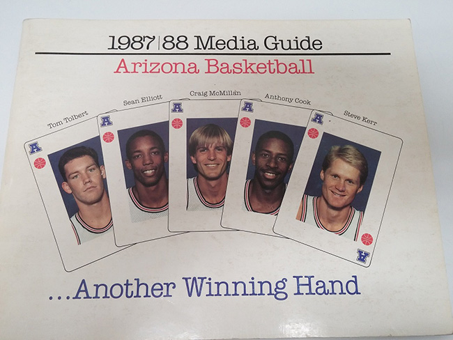 This vintage media guide features the Arizona Wildcats 1988 Final Four Team.