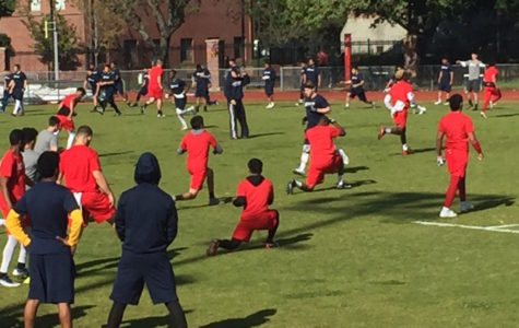 Bear Cubs football competes in Spring Olympics