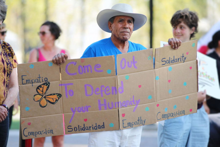 SRJC community members of all ages gather to remember Andy Lopez and also to protest President Donald Trump's threat to repeal Deferred Action for Childhood Arrivals (DACA) program.