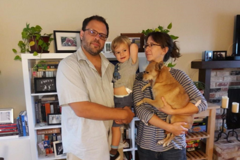 Ethan De Seife and his family