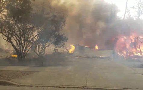 Footage from across Santa Rosa of the fire still in progress
