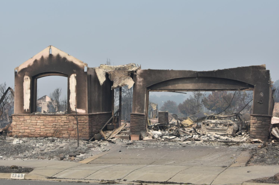 Oct. 10: The aftermath of a fire still raging