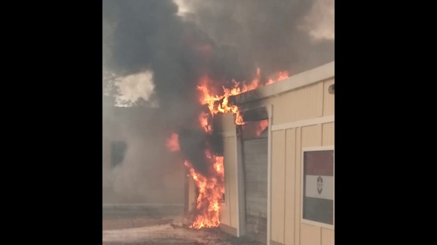 Small businesses burning in Santa Rosa fire Oct 19 2017