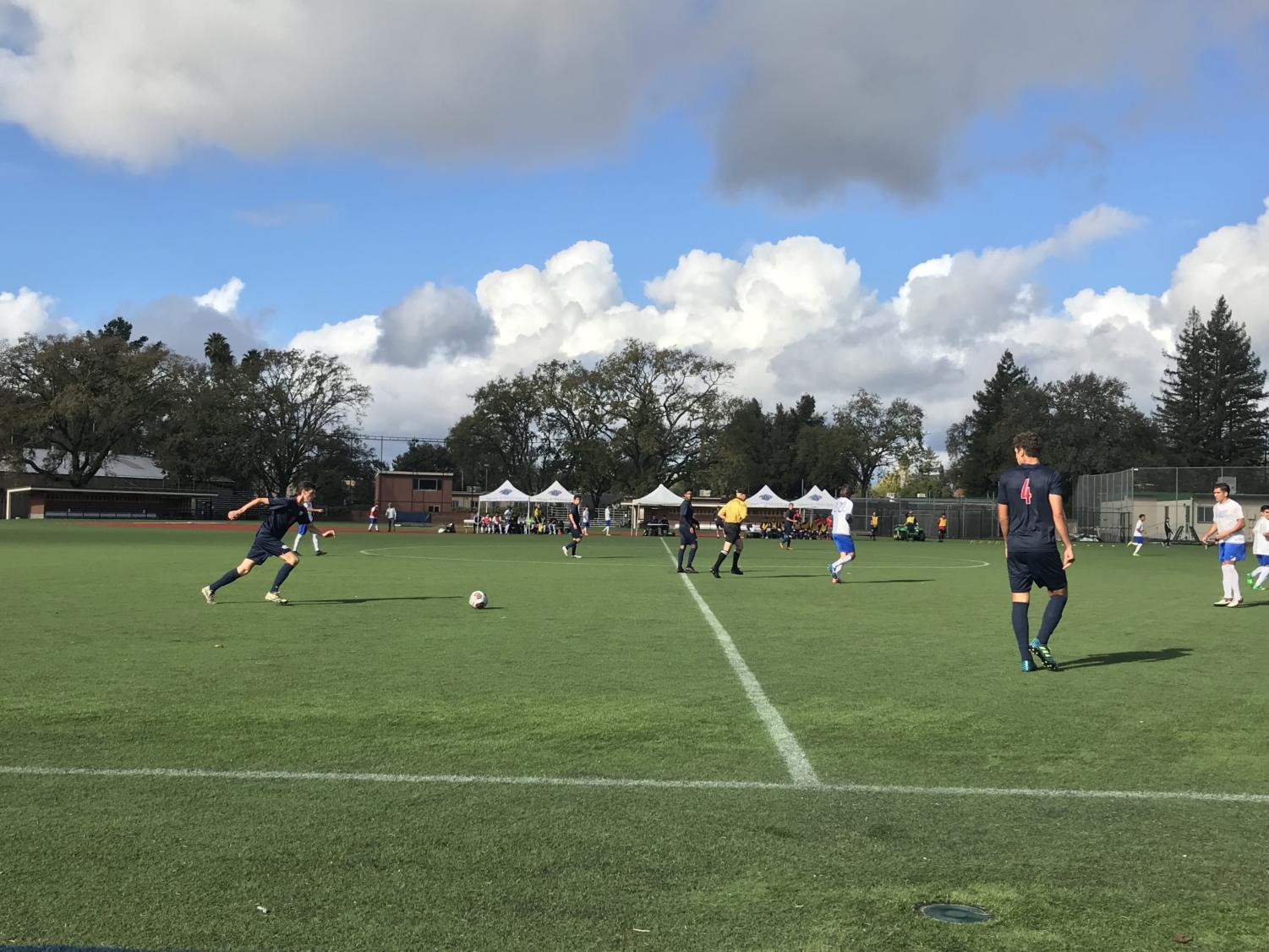 The Santa Rosa Junior College Bear Cubs men's soccer team sealed a playoff berth with a narrow victory over the Modesto College Pirates Nov. 11 in Santa Rosa.