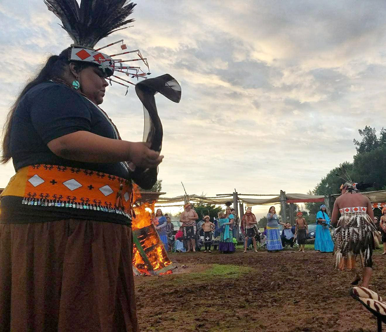 Rose Hammock dances during the 2017 Sunrise Ceremony at the Ya-ka-ama in Forestville, California. Photo provided by Hammock.