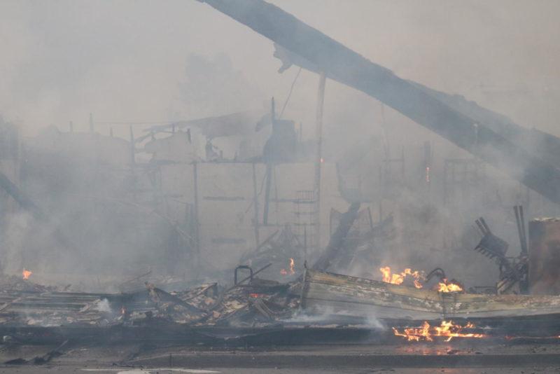 Fires affect academics