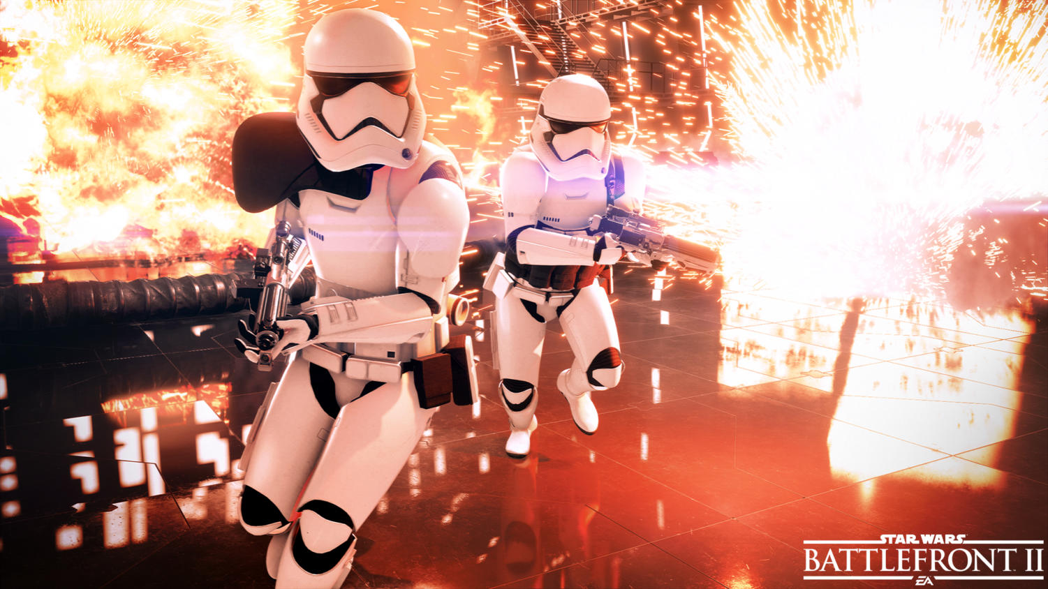 A screenshot of a Stormtrooper in BF2