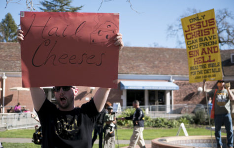 "Video: ""Cry to God"" religious group squares off against SRJC students"